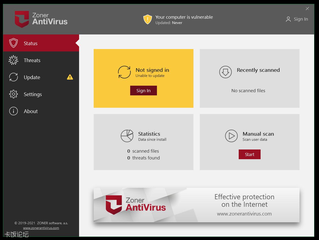 Zoner Antivirus for Windows 简单体验
